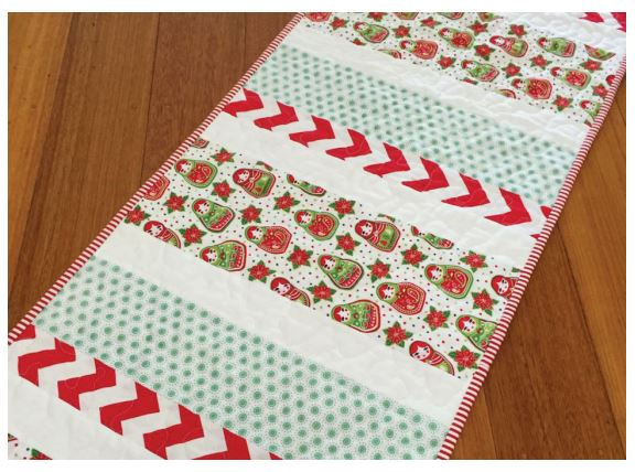 Candy Stripe Christmas Table Runner 1