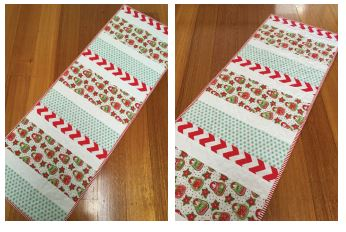 Candy Stripe Christmas Table Runner 7