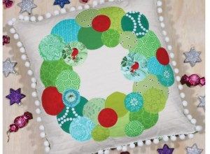 Christmas Bubble Wreath Cushion 1