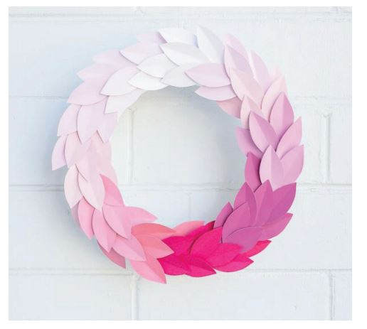 Christmas Paper Wreath 1