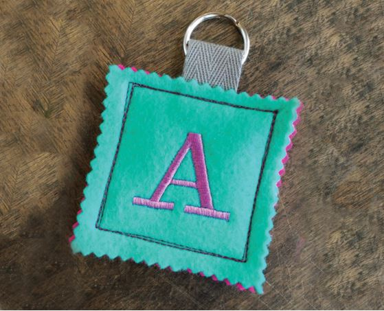 Embroidered Luggage Tag 1